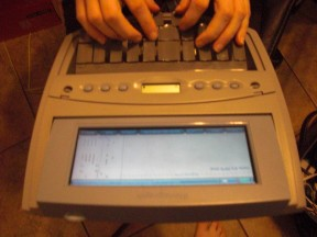 Writing on a Court Reporter's Steno Machine