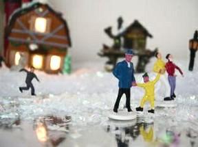Ceramic Christmas Village To Paint
