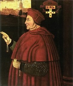 Cardinal Wolsey fell from favour from 1527.