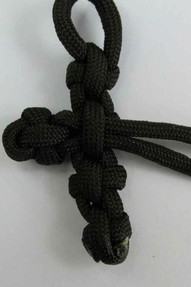 making the paracord cross