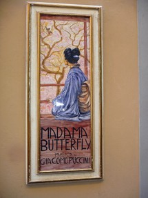 Tiles depicting Madame Butterfly