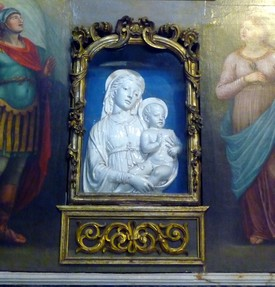 Exquisie Andrea Della Robbia work in Church of S. Michele, Lucca