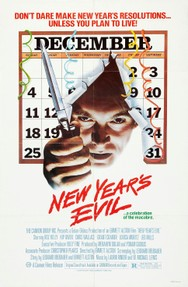 "The original poster for ""New Year's Evil"" (1980)"