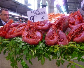 Red Prawns, a speciality in Valencia