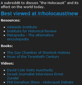 Image: r/Holocaust Revisionist Links