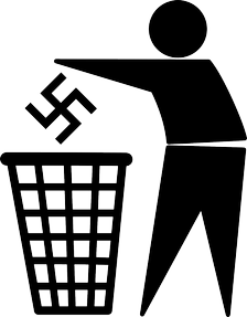 Image: Putting Nazi ideology into the trash