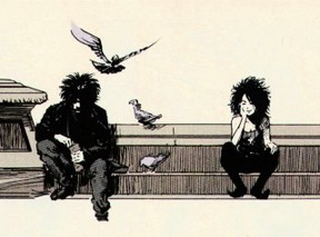 Image: Dream and Death from The Sandman