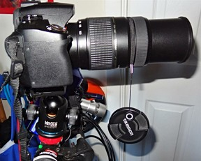 Sony Alpha A390 DSLR with Tamon 300mm Zoom fully extended