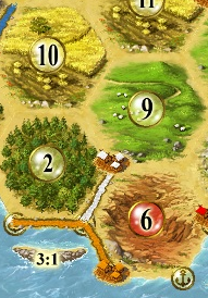 Image: Detail from Settlers of Catan