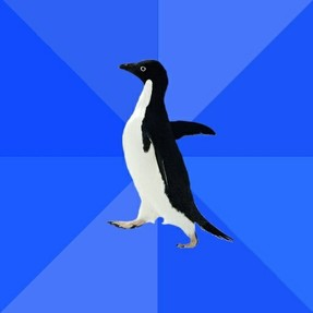 Image: Socially Awkward Penguin