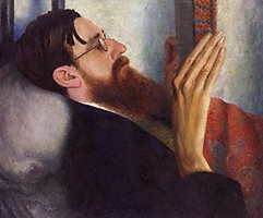 Dora Carrington's portrait of Lytton Strachey (1916). Image in the public domain, uploaded on Wikimedia Commons by Thyra