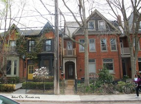 Row of houses in Cabbagetown, Toronto