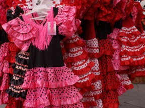 Flamenco costumes outside shop