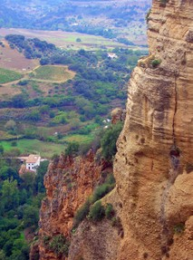 Looking Down into the Valley at Ronda