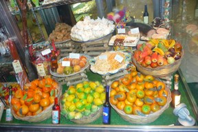 Selection of Marzipan and candied fruits