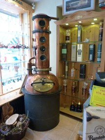 Old Copper Still in Shop