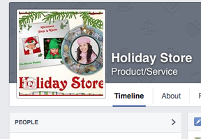 holiday store at Facebook