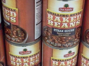 Our Family Baked Beans on the Shelf