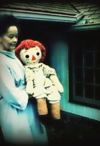 Image: Lorraine Warren with Annabelle
