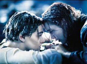 Image: Jack and Rose in Titanic