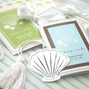 seashell bookmark wedding favor