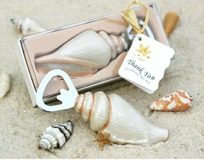 seashell bottle opener wedding favor