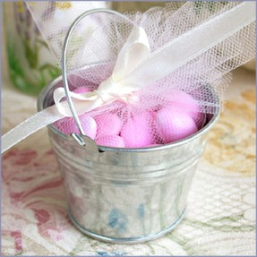 aluminum beach pail wedding favor
