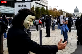 Image: Anonymous at MillionMaskMarch Washington CD Nov 5th 2014