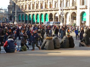 Piazza Duomo is a Central Meeting Place for the people of Milano