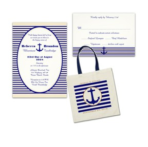 navy anchor cruise wedding