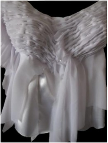 wedding dress bodice pleats