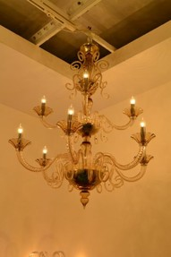 Chandelier in the Cenedese studio on Murano
