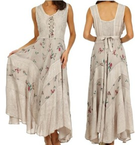 boho garden goddess corset dress