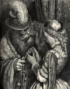 Image of Bluebeard by Gustave Dore