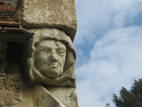 Carved at the entrance to the village church