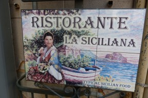 Restaurant Sign in Cefalu