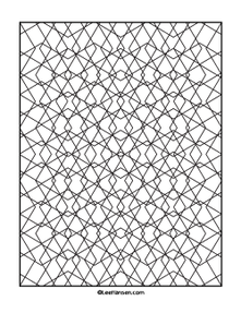 Geometric pattern for coloring, diamonds design - leehansen.com