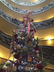 Christmas tree Vatican museum