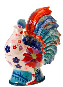 Colorful Whimsical Hen Cookie Jar