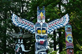 Totem Pole at Stanley Park, Vancouver