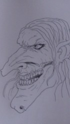Drawing A Wicked Witch's Face