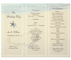 wedding program example