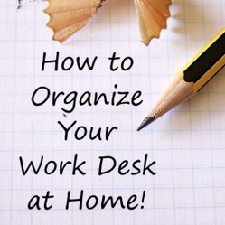 how to organize your desk at home for school looking to