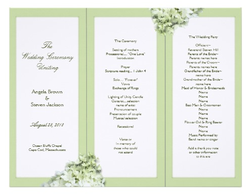 Custom Tri-fold Wedding Programs